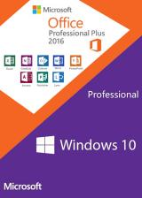 Official Windows10 PRO + Office2016 Professional Plus CD Keys Pack