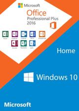 Official Windows10 Home + Office2016 Professional Plus CD Keys Pack