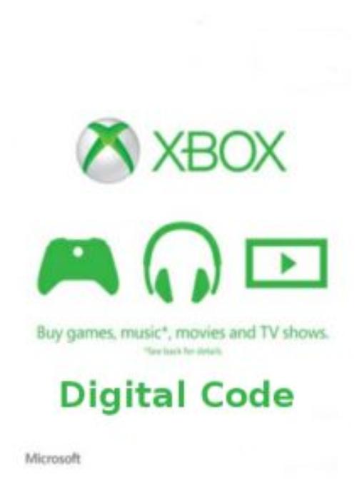 Xbox Live Prepaid Card $50