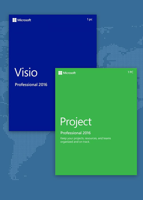 Project Professional 2016 + Visio Professional 2016 Key Global