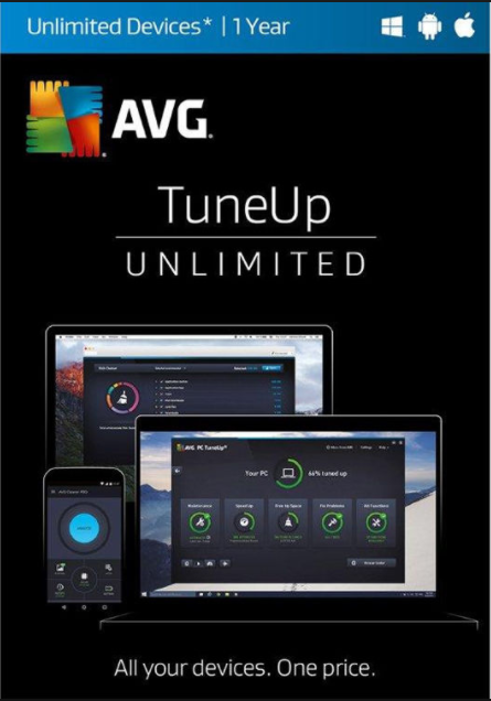 AVG TuneUp 2017 Unlimited Devices 1 YEAR Global