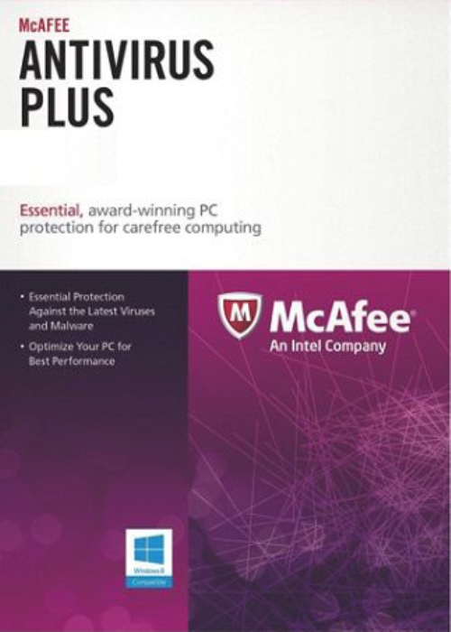 McAfee Antivirus 1 PC 1 YEAR Global