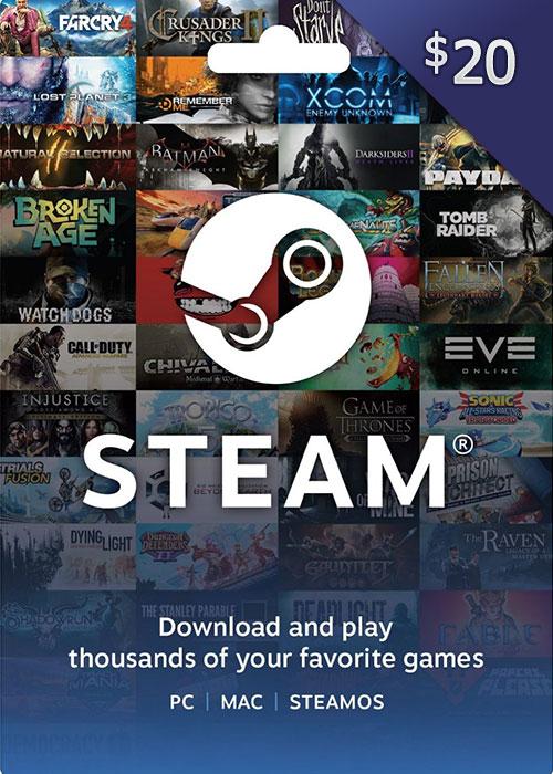 Steam Gift Card 20 USD