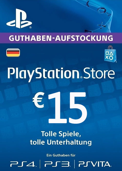 Play Station Network 15 EUR DE