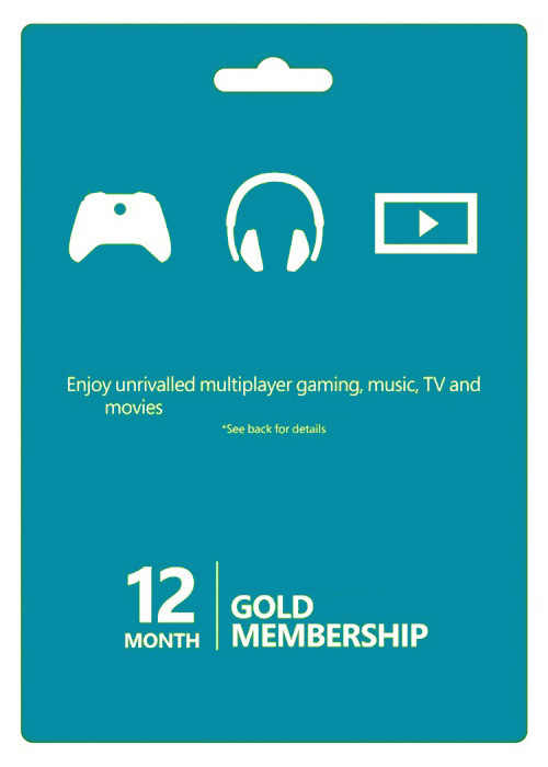 Xbox Live 12 Months Gold Membership Card Global