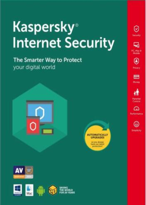 Kaspersky Internet Security 2019 3 PC 18 Months Key North America