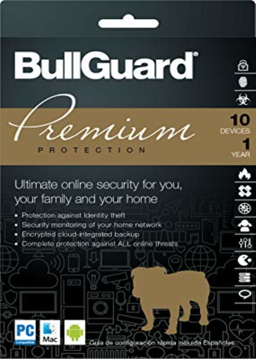 BullGuard Premium Protection 2018 10 PC 1 Year Key Global