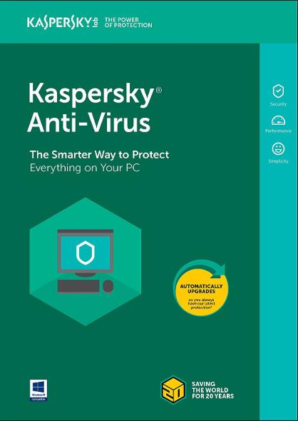 Kaspersky Antivirus 2019 3 PC 1 Year Key North America