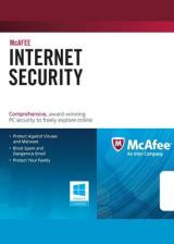 Official McAfee Internet Security 3 PC 1 YEAR Global