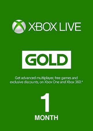 Xbox live 1 Month Gold Membership Digital Code Global