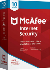 Official McAfee Internet Security 10 Devices 1 YEAR Global